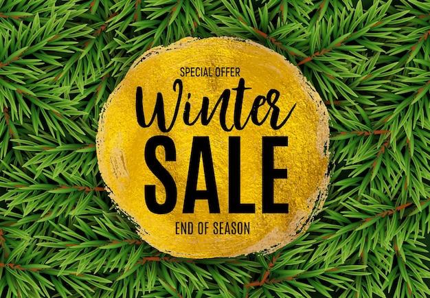 Sfondo di vendita di fine inverno, modello di buono sconto. illustrazione vettoriale eps10