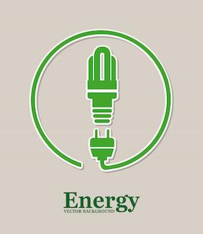 Disegno di energia sopra illustrazione vettoriale sfondo grigio