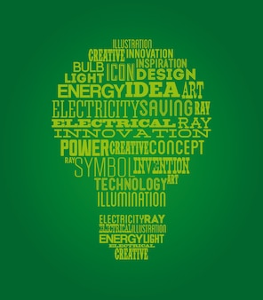 Disegno di energia sopra illustrazione vettoriale sfondo verde