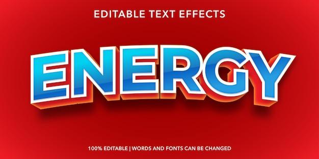 Effetto di testo modificabile energia