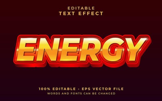 Effetto di testo modificabile di energia