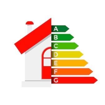Icona di casa di efficienza energetica