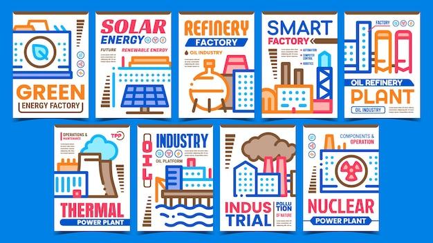 Manifesti promozionali della fabbrica di energia