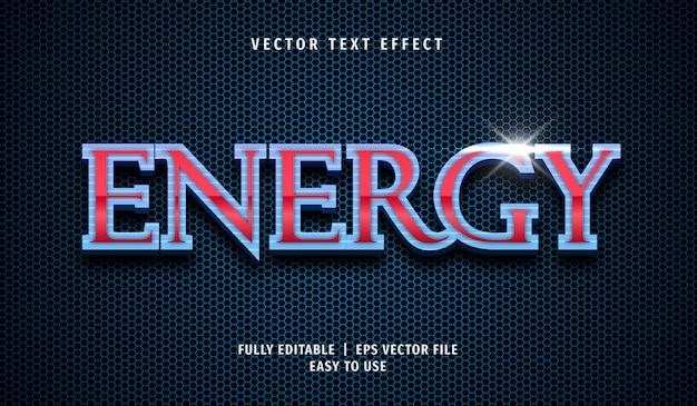 Effetto testo energetico, stile di testo modificabile