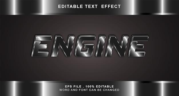 Effetto testo motore modificabile