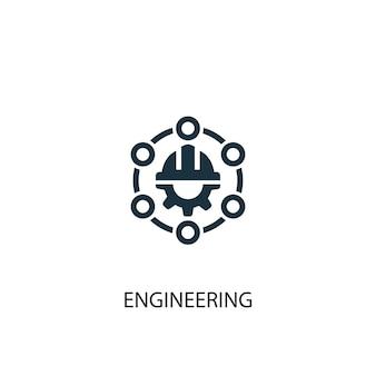 Icona di ingegneria. illustrazione semplice dell'elemento. disegno di simbolo di concetto di ingegneria. può essere utilizzato per web e mobile.