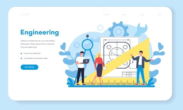 Banner web di ingegneria o pagina di destinazione