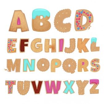 Alfabeto inglese da biscotti