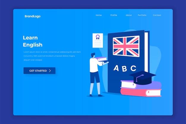 Pagina di destinazione della lezione di inglese