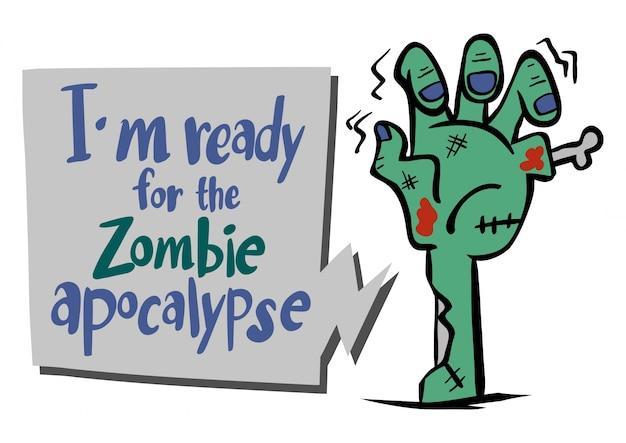 Frase inglese per essere pronto per l'apocalisse di zombie