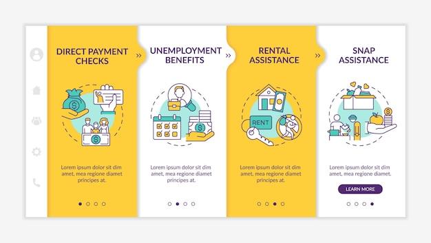 Modello di aumento delle indennità di disoccupazione per i lavoratori senza lavoro
