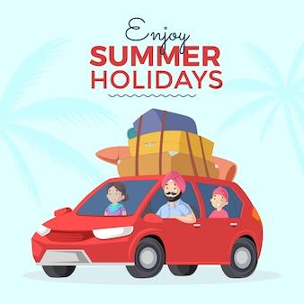 Goditi il modello di progettazione banner per le vacanze estive