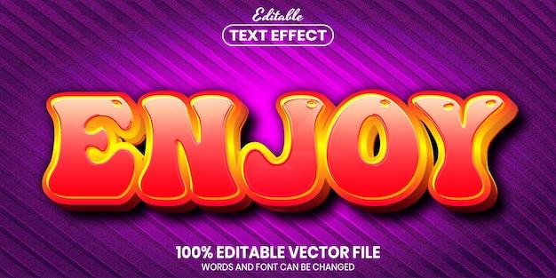 Enjoytext, effetto testo modificabile in stile carattere