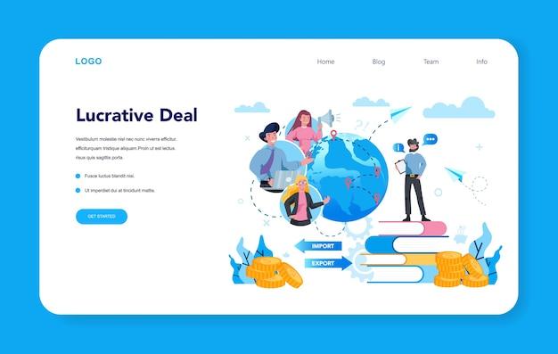 Banner web o pagina di destinazione dell'imprenditore
