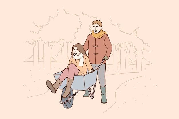 Intrattenimento per il concetto di coppia romantica