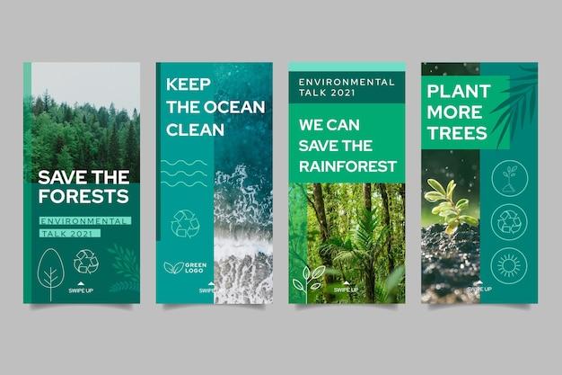 Raccolta di storie di instagram di ambiente