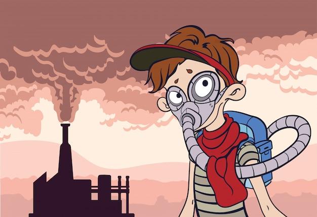 Poster di inquinamento ambientale.