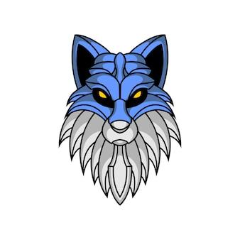 Illustrazione di lupo epico