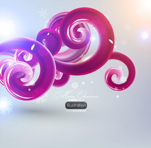 Eps10 modello idromassaggio ornamento a spirale