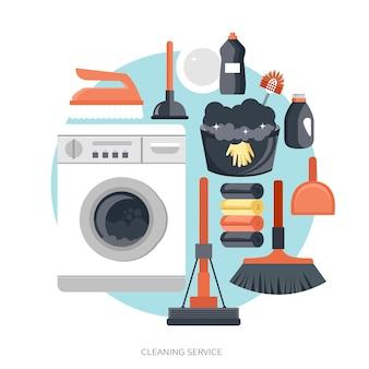 Concetto di servizio di pulizia delle attrezzature