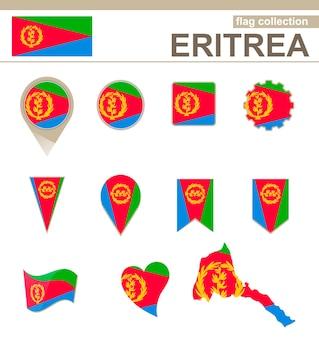 Collezione bandiera eritrea, 12 versioni