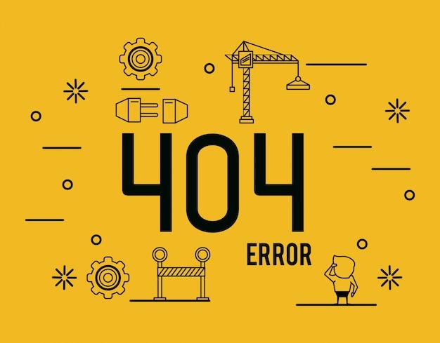 Infografica errore 404 su sfondo bianco