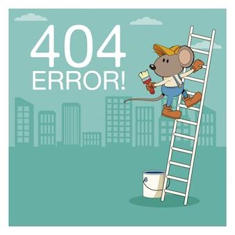 Errore 404 con cartoon mouses divertente