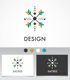 Esoterico, alchimia, geometria sacra, tribale e azteca, geometria sacra, forme mistiche, simbolo e icona