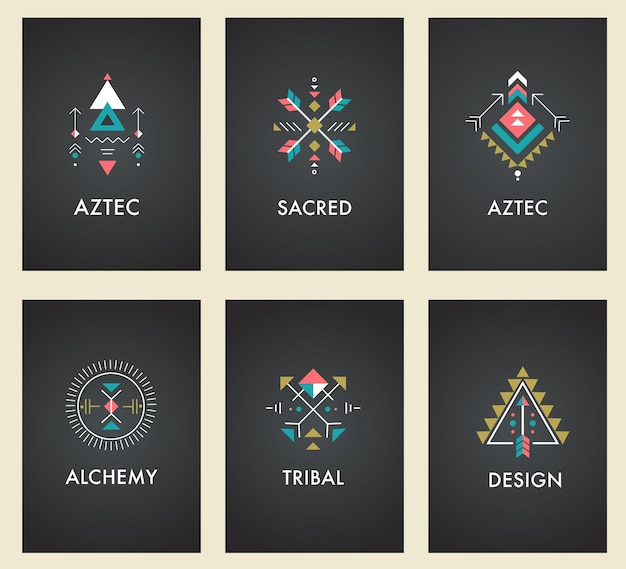 Esoterico, alchimia, geometria sacra, tribale e azteca, geometria sacra, forme mistiche, simboli
