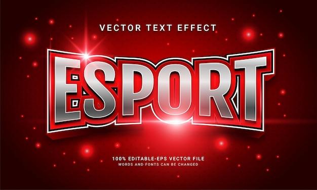 Esport giochi a tema con effetti di testo modificabili