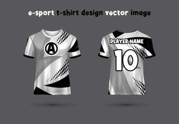 Esport gaming t shirt jersey templatetshirt sport design template maglia da calcio per club di calcio