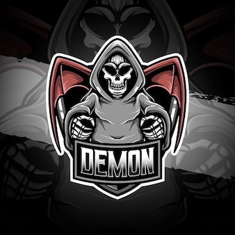 Esport logo icona personaggio demone