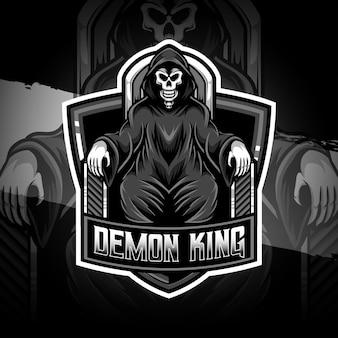 Logo esport icona personaggio re demone