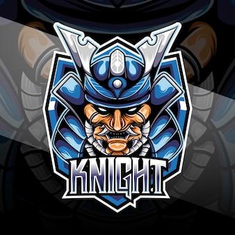 Esport logo heaad cavaliere samurai