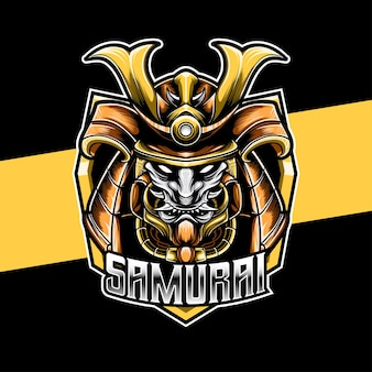 Logo esport heaad knight samurai