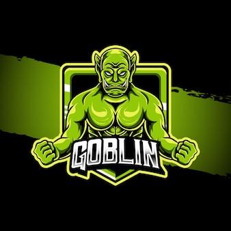 Esport logo illustrazione goblin