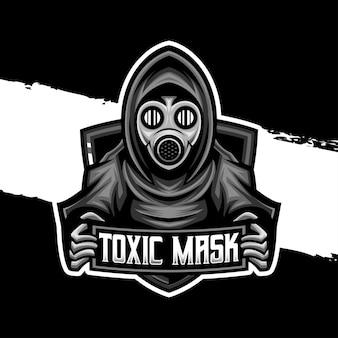 Logo esport icona personaggio maschera tossica