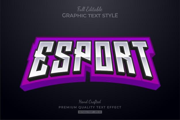 Esport team purple modificabile stile carattere effetto testo