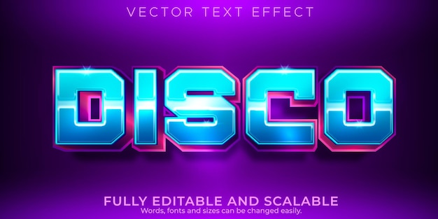 Esporta effetto testo, gioco modificabile e stile di testo al neon