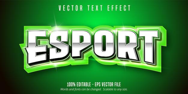 Testo di esportazione, effetto di testo modificabile in stile sport