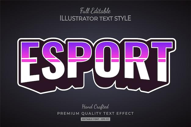 Esport text style effect premium