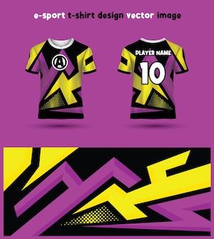 Modello di maglia per magliette da gioco esports