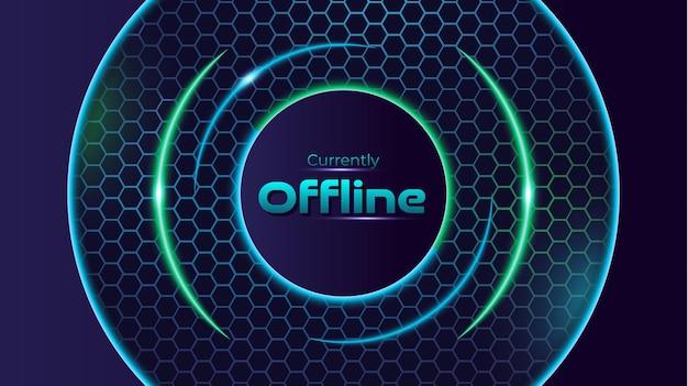 Esports gioco offline verde e blu neon moderno esagono sfondo contrazione banner