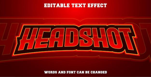 Headshot con effetto testo esport