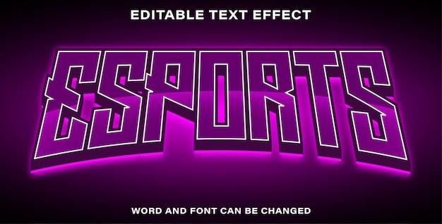 Effetto di testo esport