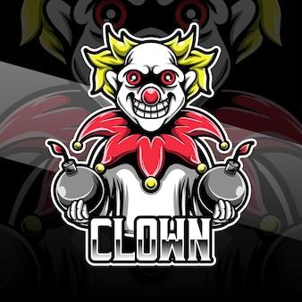 Icona del personaggio del pagliaccio logo espot