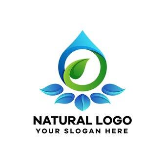 Modello di logo sfumato di olio essenziale
