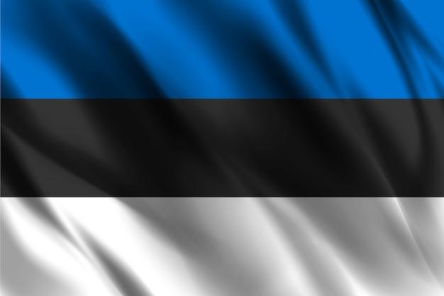 Bandiera dell'estonia che ondeggia fondo astratto