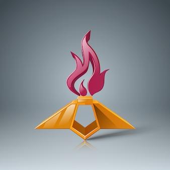 Icona di fiamma eterna. 9 maggio - giorno della vittoria