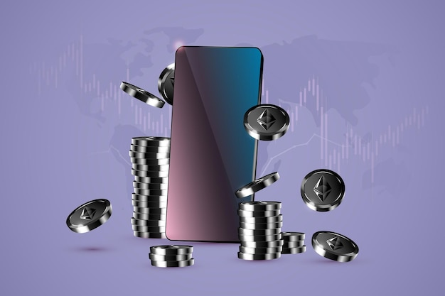 Monete ethereum e il telefono